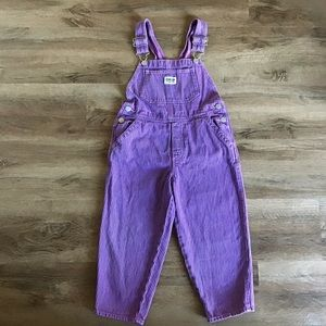 Vintage OshKosh B'Gosh Overalls Striped Size 5
